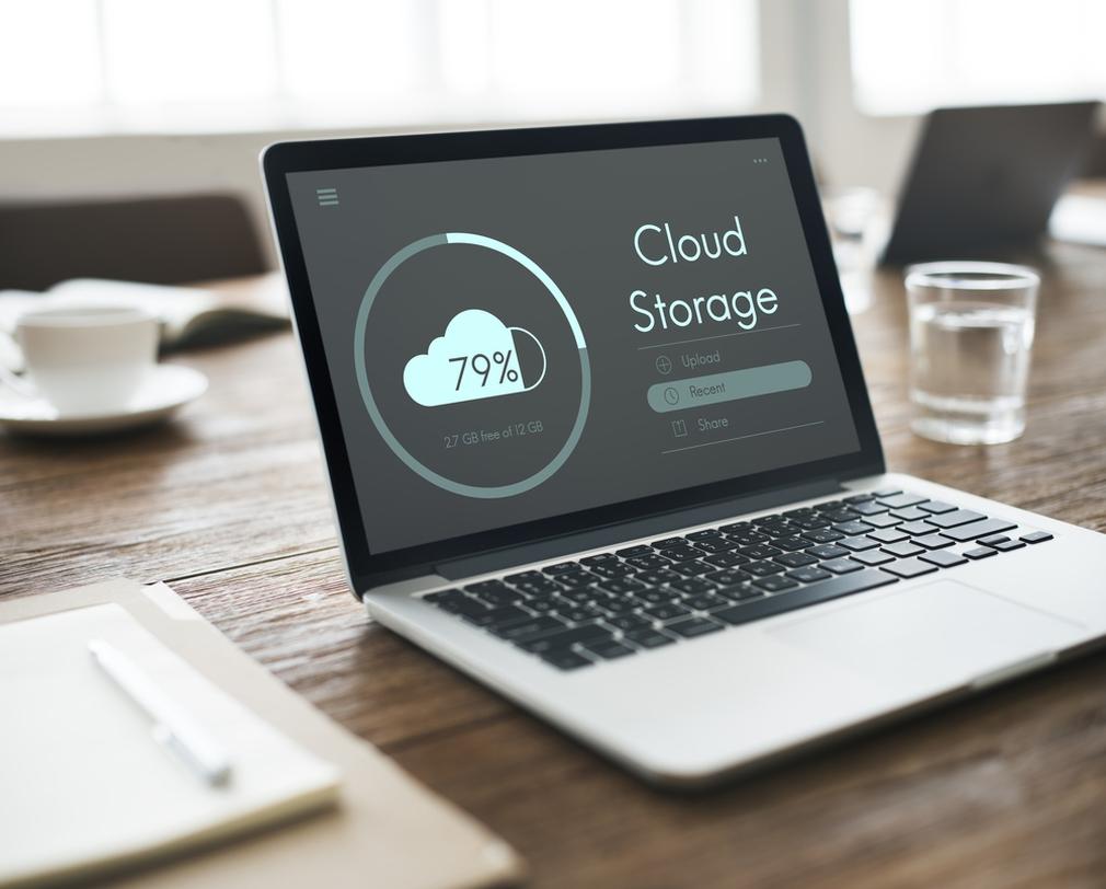 Cloud storage on laptop