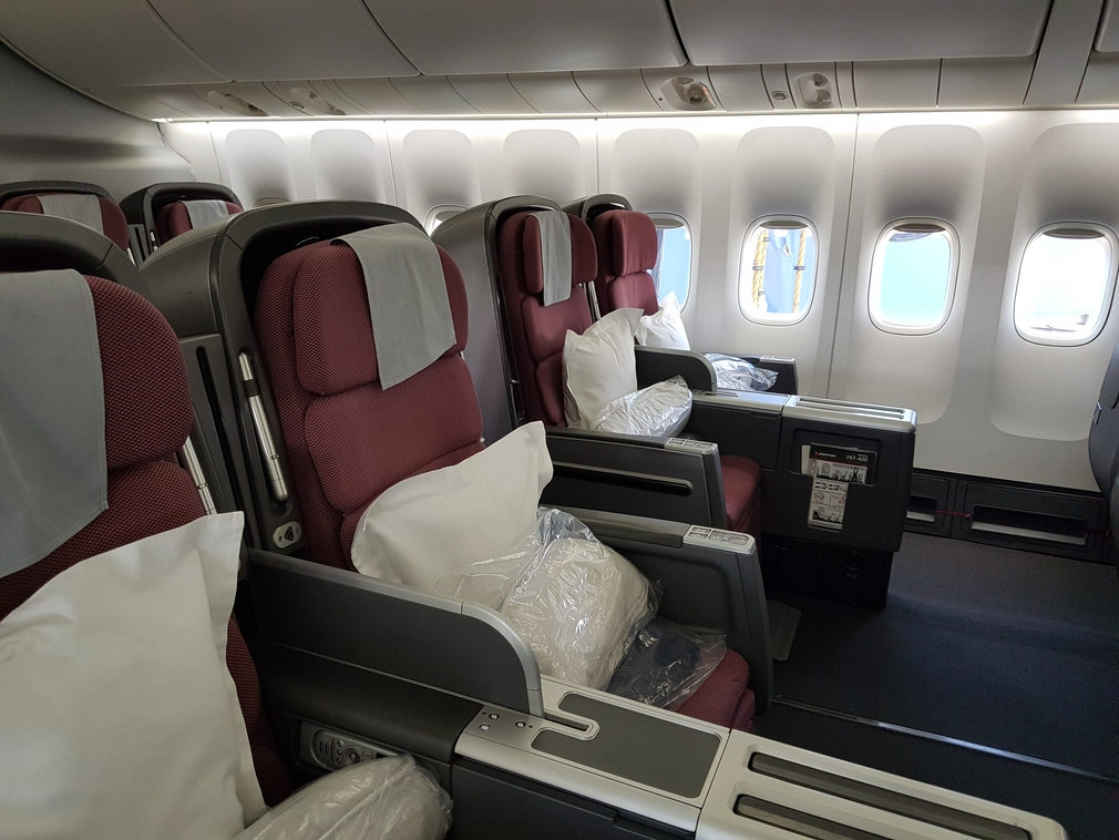 Qantas business class seats