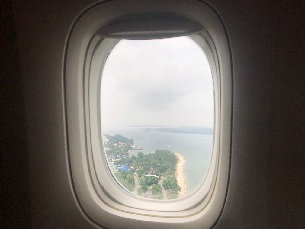 Arriving into Singapore