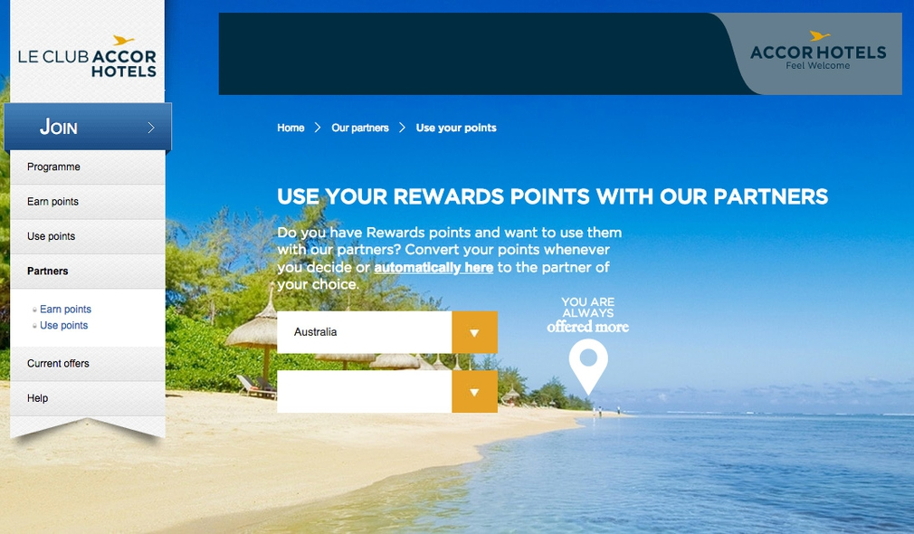 Accor Loyalty Points Transfer Out