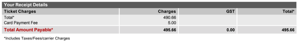Qantas flight taxes Sydney to Hong Kong estimate
