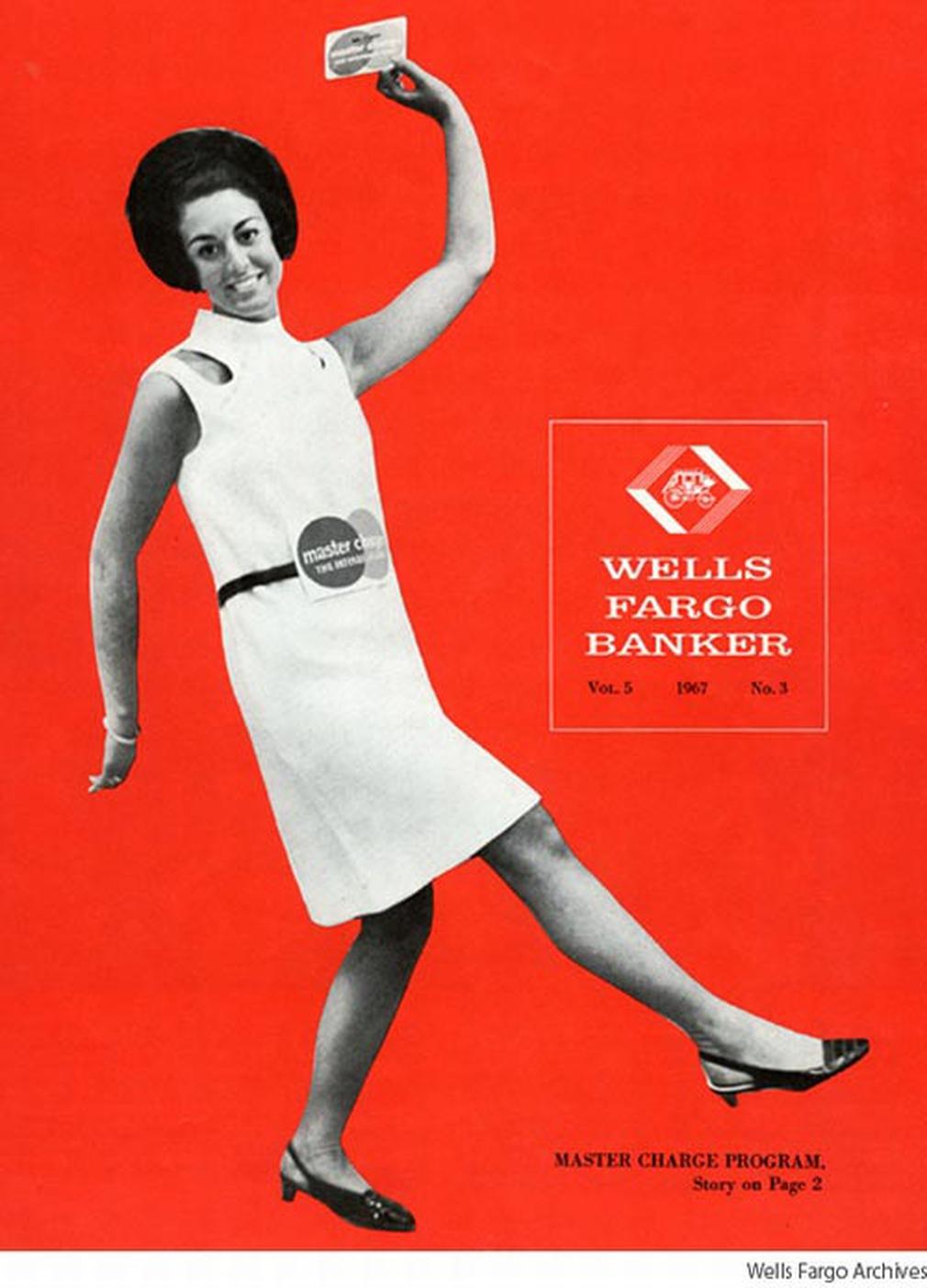 Wells Fargo Banker Master Charge 1967 vintage ad