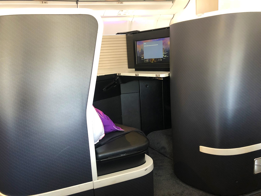 Virgin Australia 'The Business' Class seats on international routes