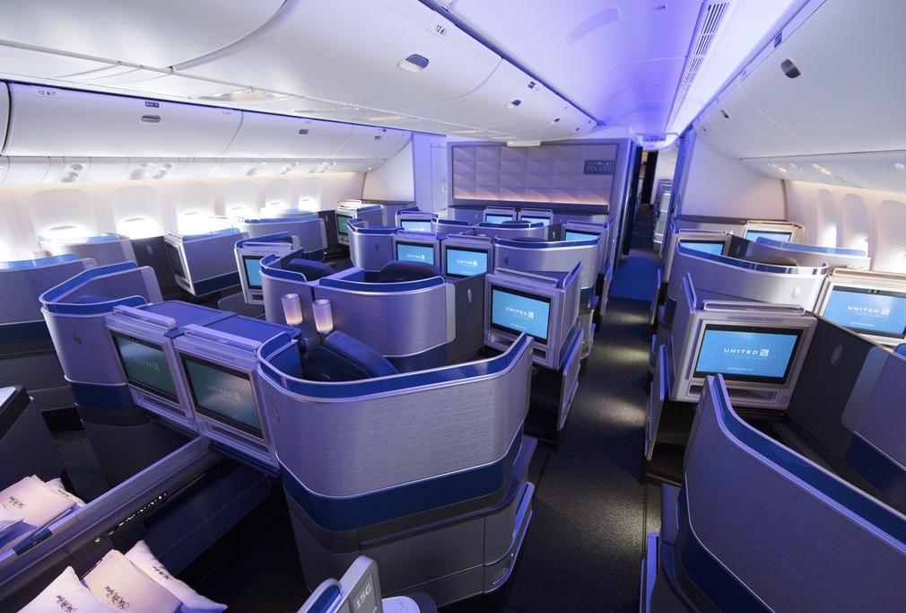 United Airlines Polaris cabin