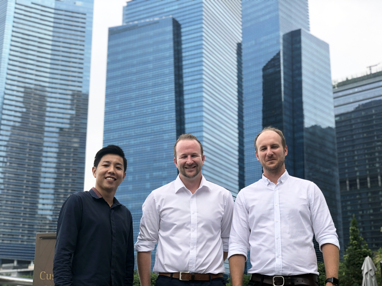 Kwok Zhong Li, David Boyd and Andrew Boyd in Singapore
