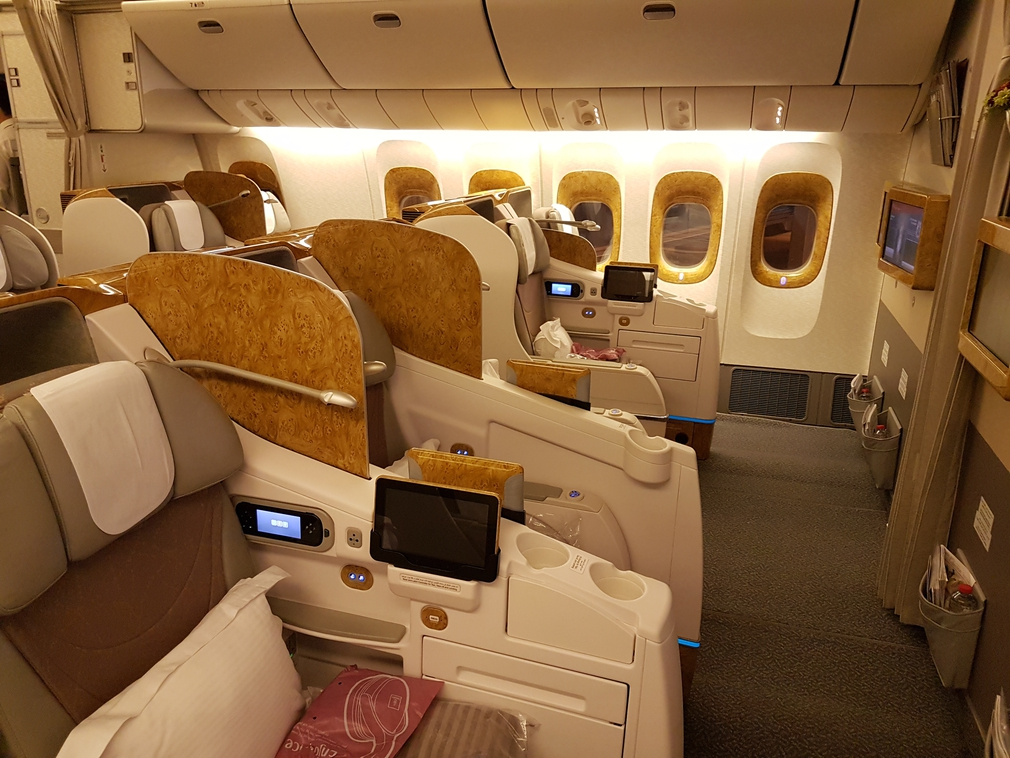 Emirates Business Class seats