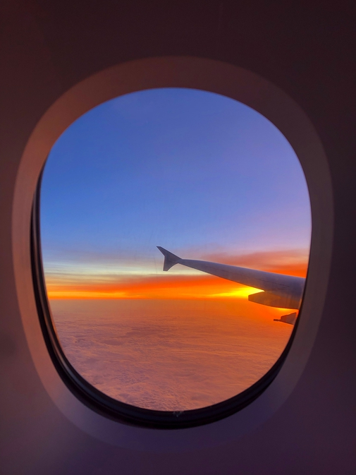The sunset in the skies from A380 SQ317
