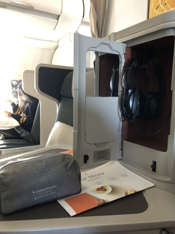Cathay Pacific Business Class Sydney to Hong Kong A330 CX162 Seat