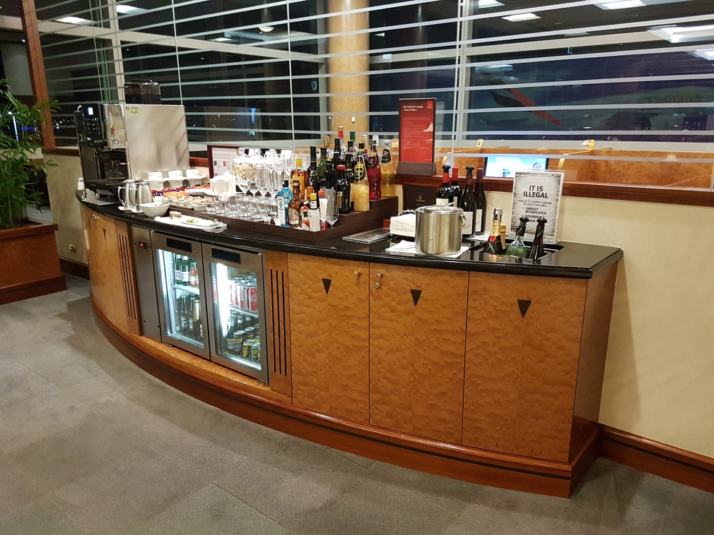 Emirates lounge bar
