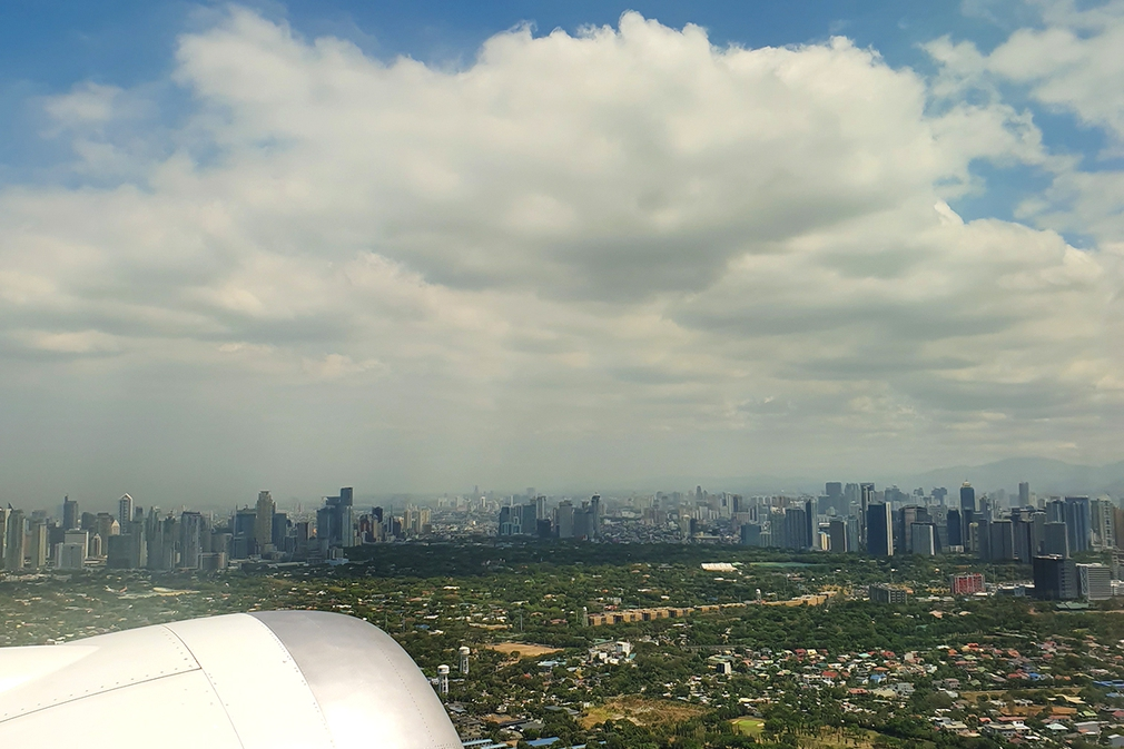 The view left over Manila's sprawling metropolis