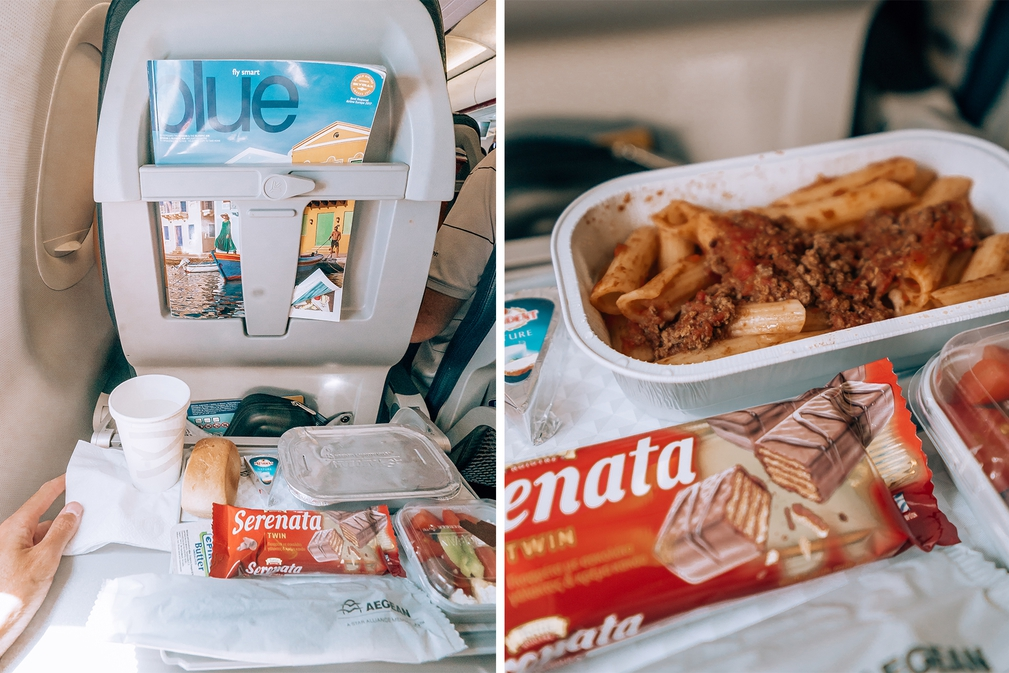 Aegean Airlines food