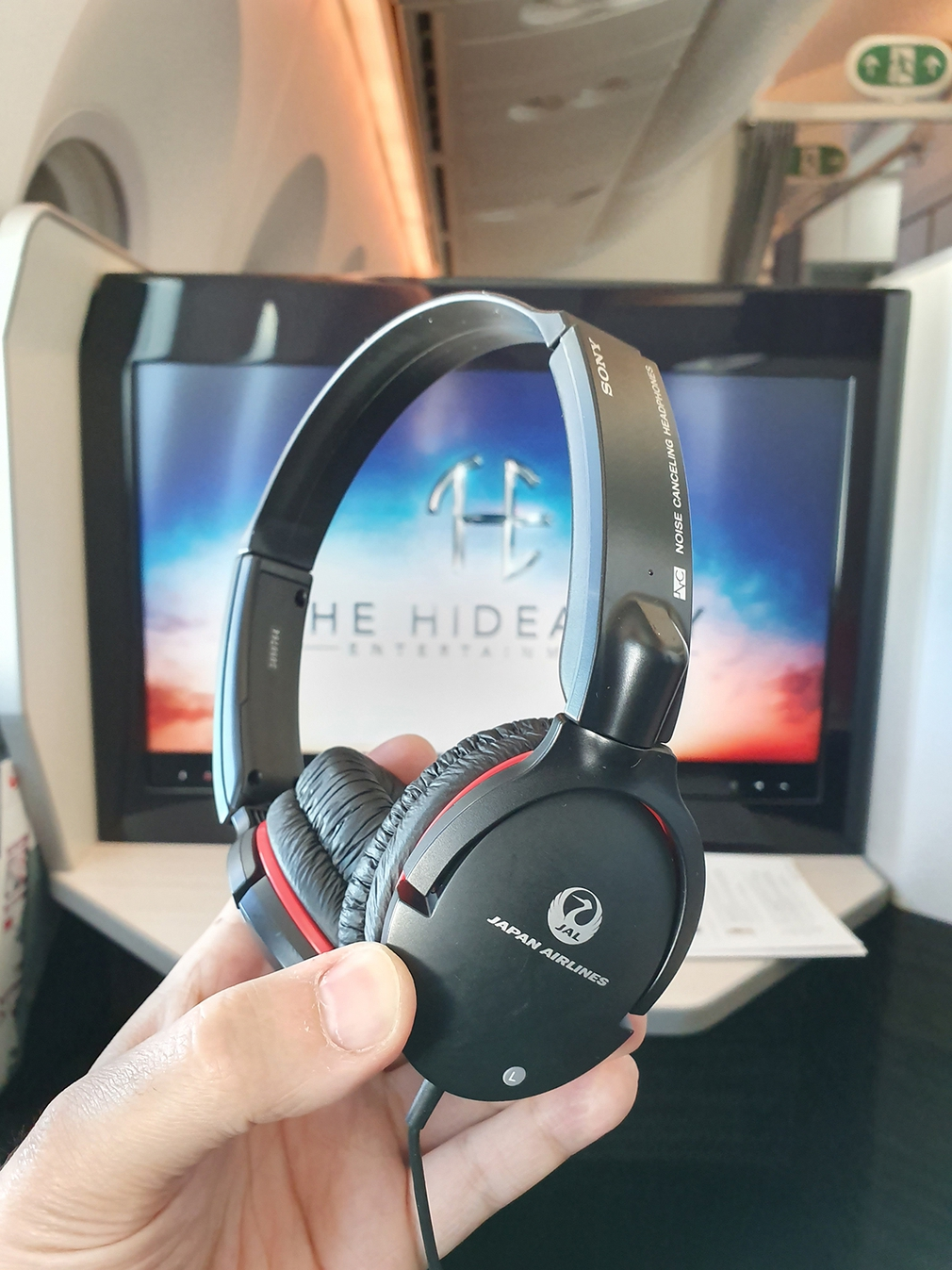 Japan Airlines standard issue headphones