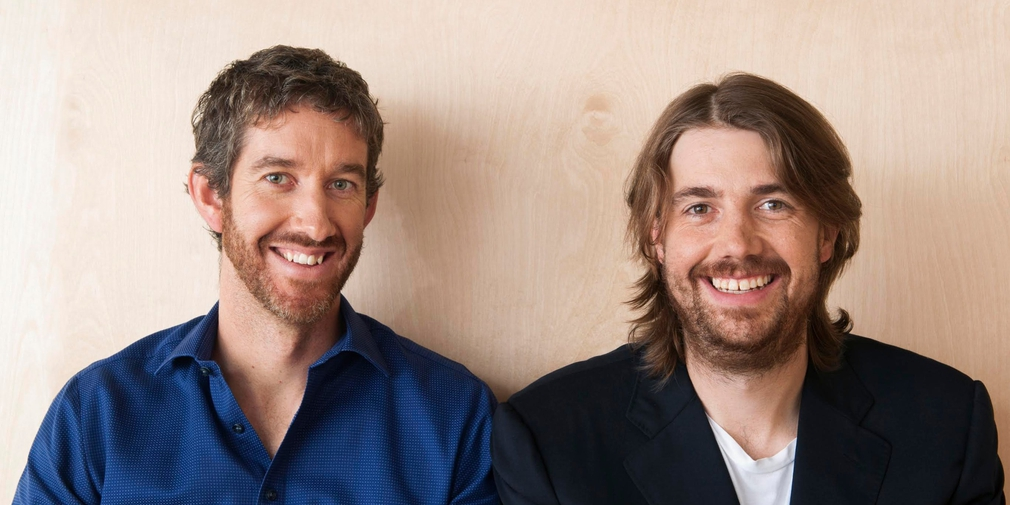 Founders of Atlassian Mike Cannon-Brookes and Scott Farquhar