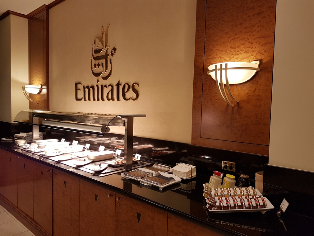 Emirates Lounge buffet