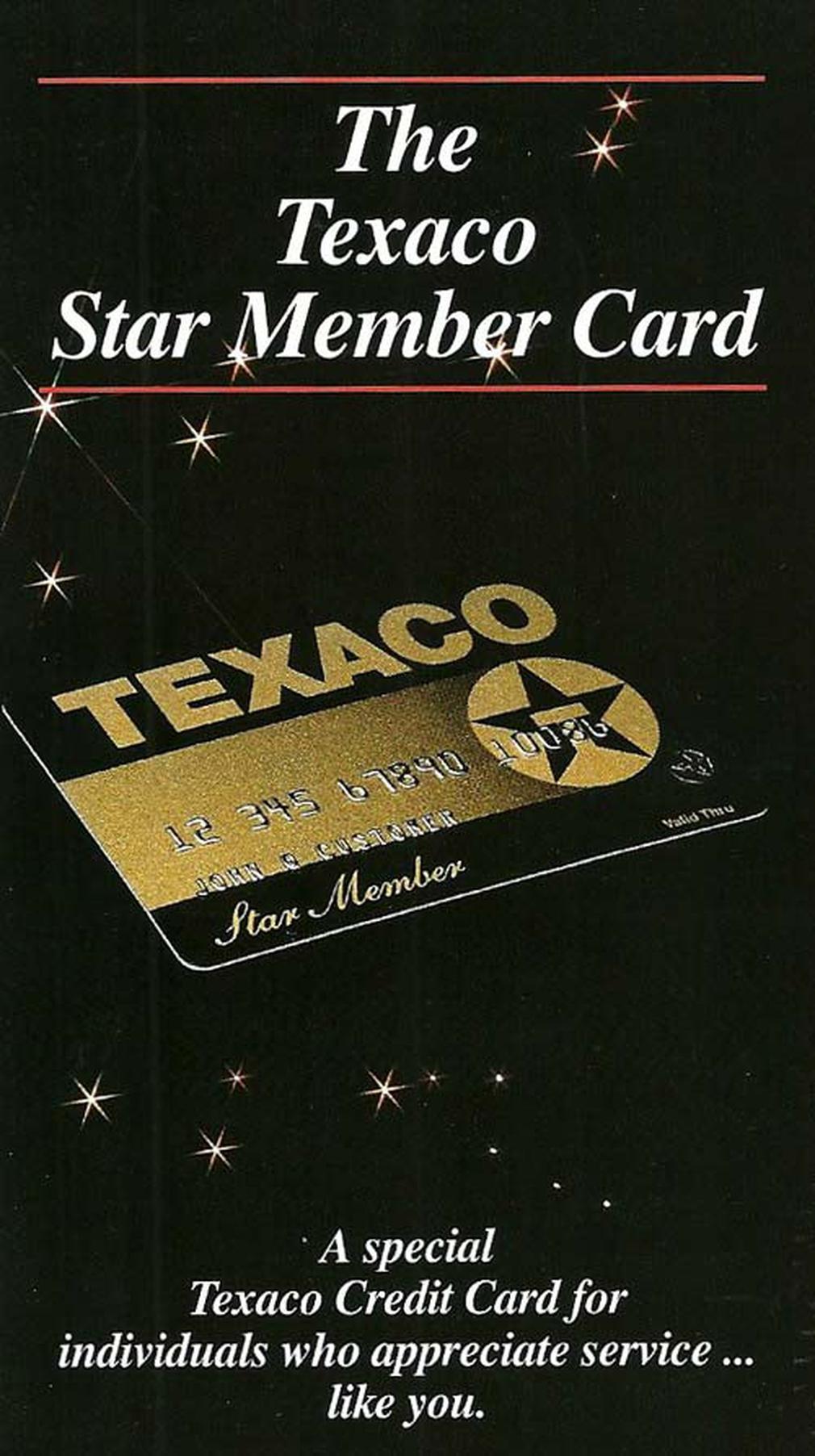 Texaco vintage credit card ad