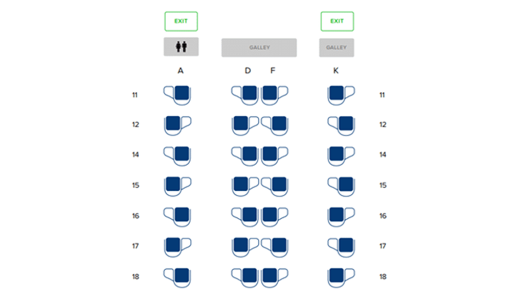 Business Class seating map Singapore Airlines