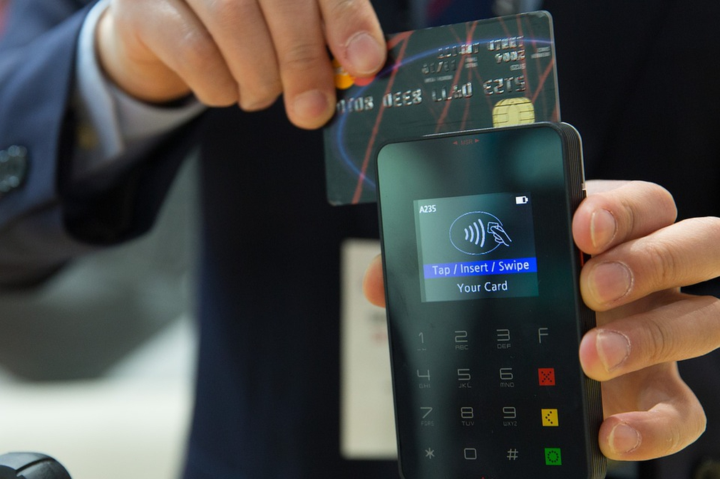 Card being used at a card POS terminal