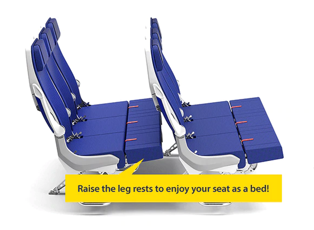 Special ANA Couchii Seats in Economy Class