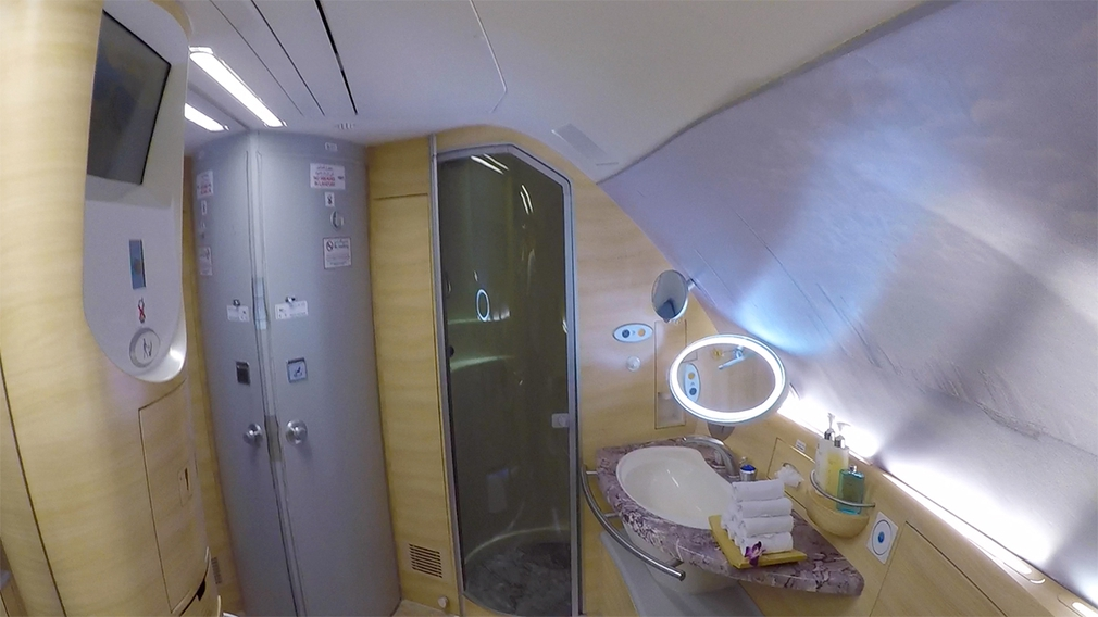 Have a shower at 30,000 ft