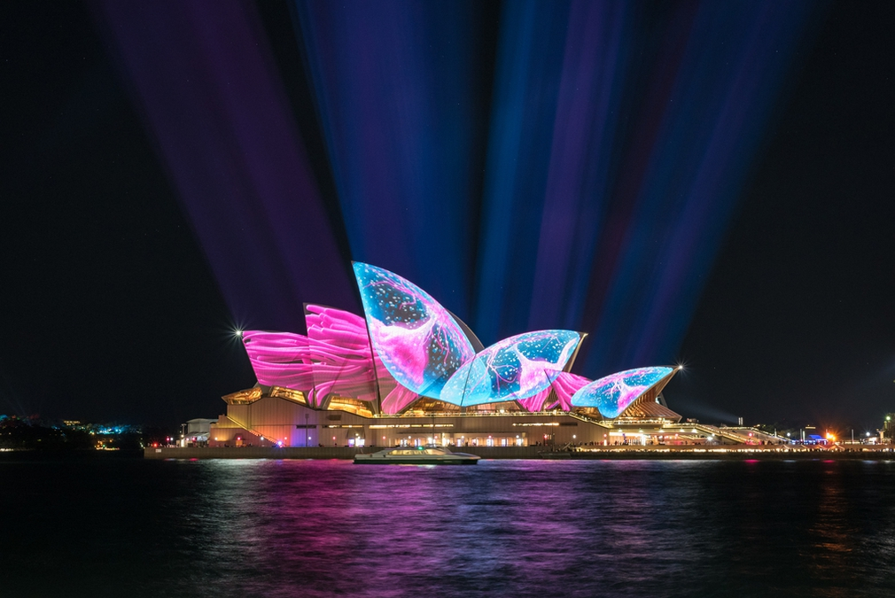 Sydney Opera House during Vivid light festival