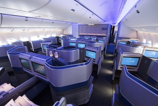 United Airlines Polaris cabin