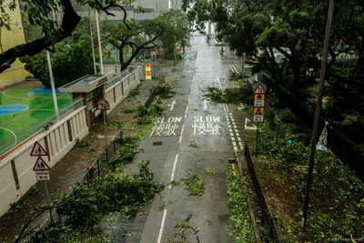 The aftermath of Typhoon Mangkhut on the streets