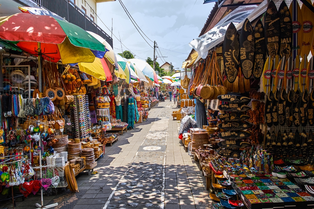 Couple Walking In Market