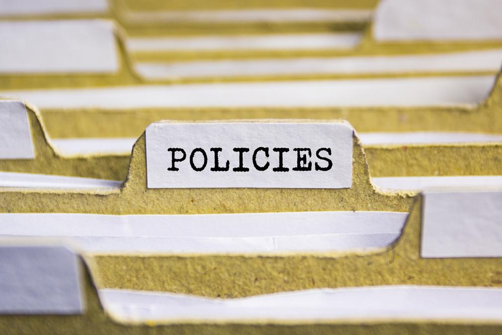 policies tab in files