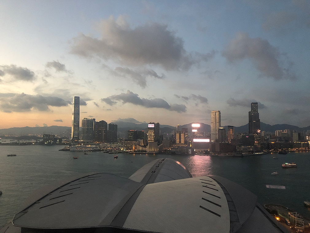 Hong Kong Harbour looking to Kowloon