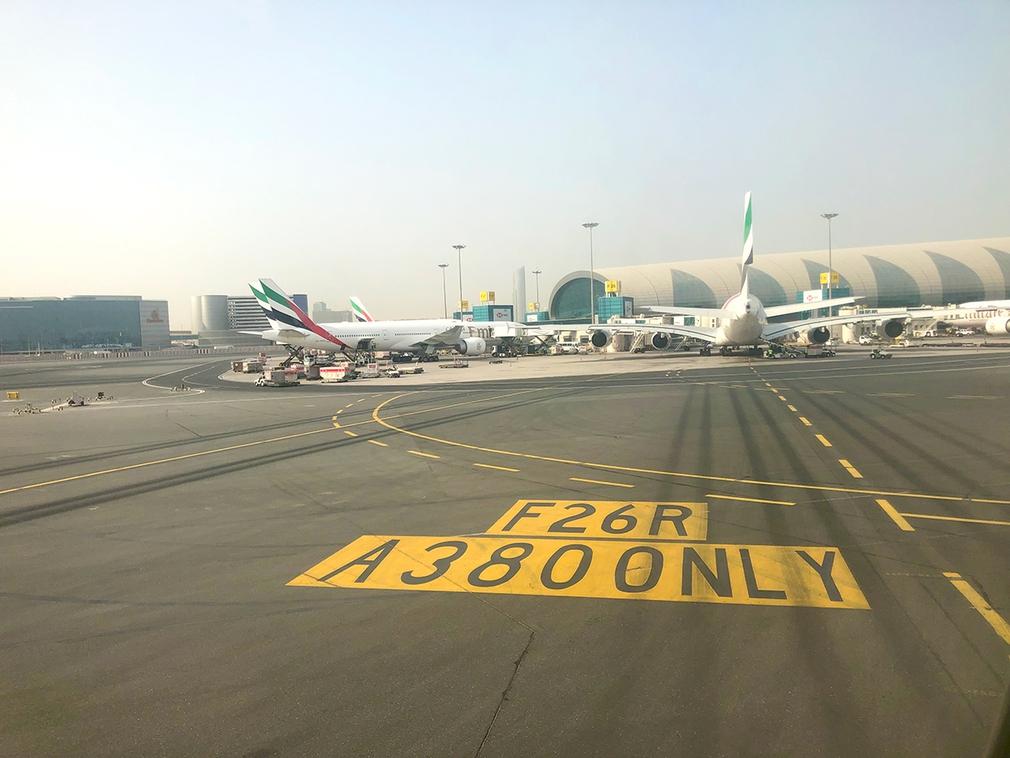 A380 only gate Dubai