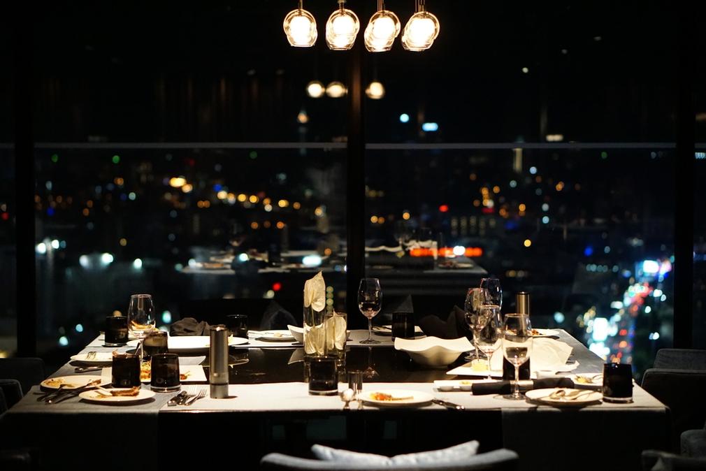 Fine dining during Vivid