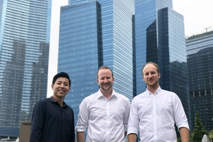 David, Andrew, and Kwok in Singapore
