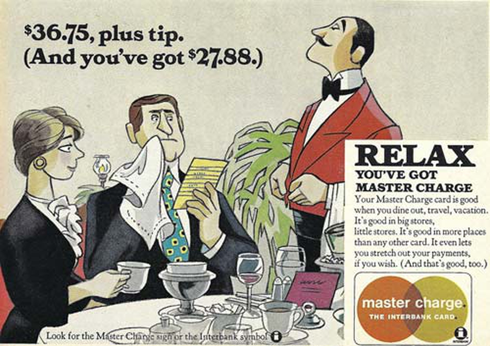 Master Charge credit card vintage ad 1970s