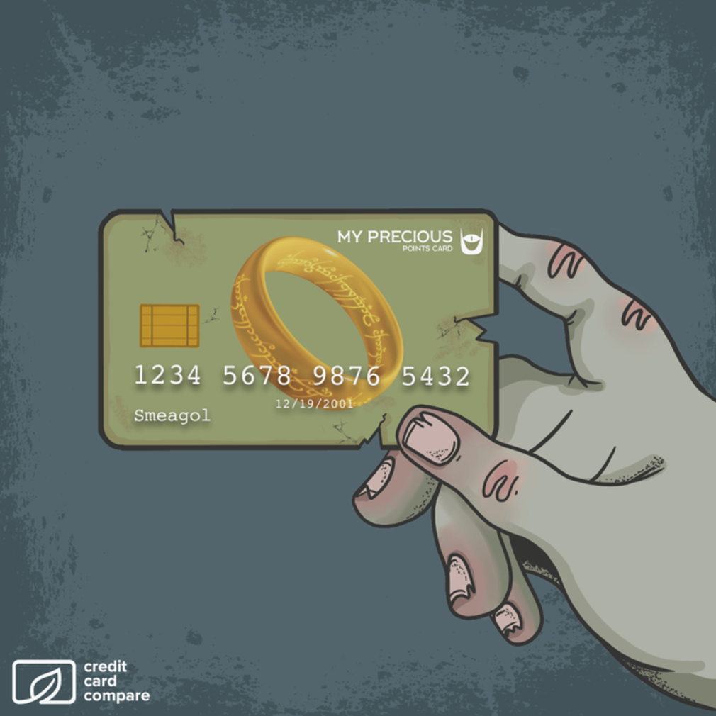 Lord of the Rings Gollum credit card