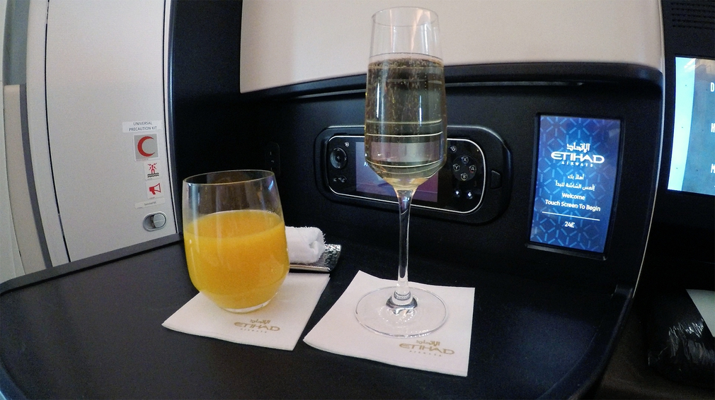 The obligatory mimosa just before take off