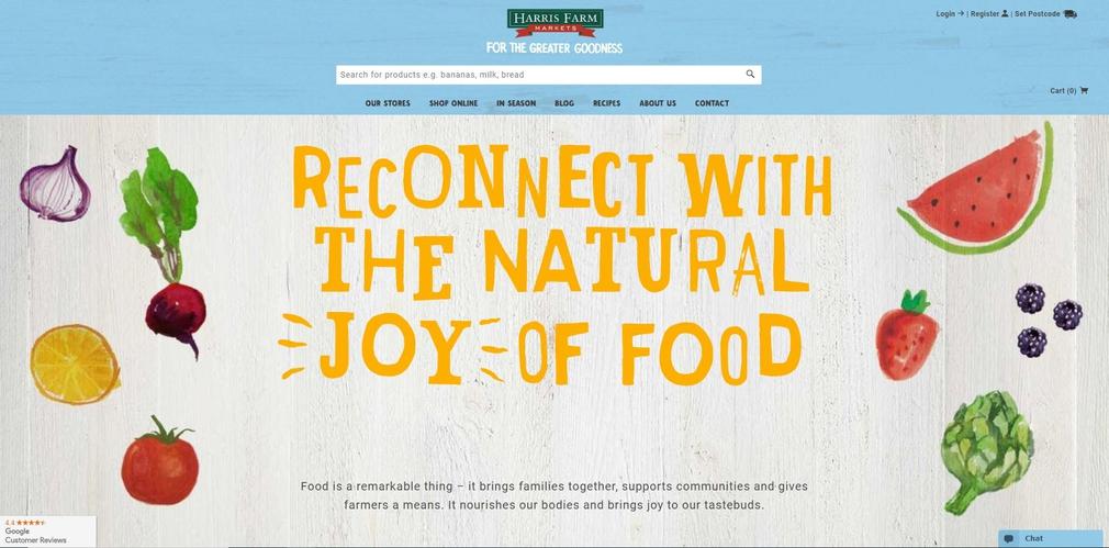 Harris Farm website