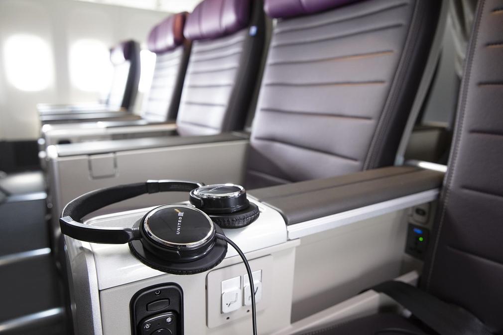 United Airlines Premium Plus seat