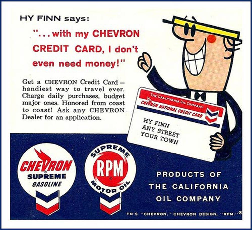 Chevron vintage print ad