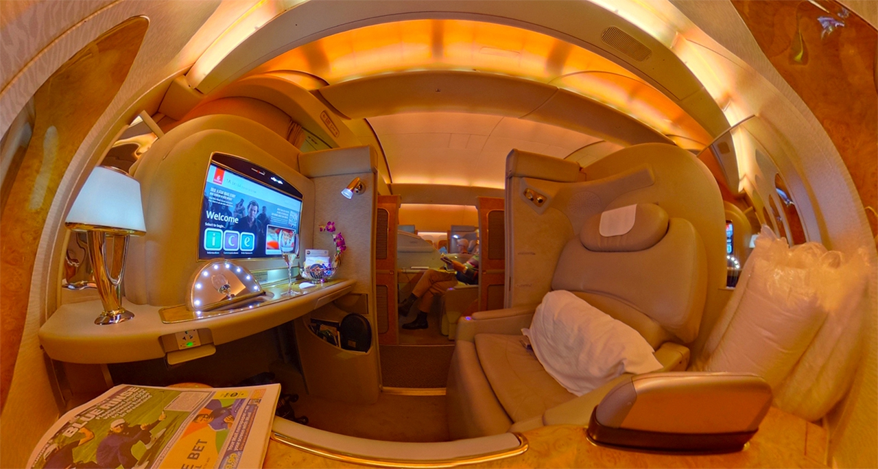 Emirates First Class Suite on Boeing 777-300ER