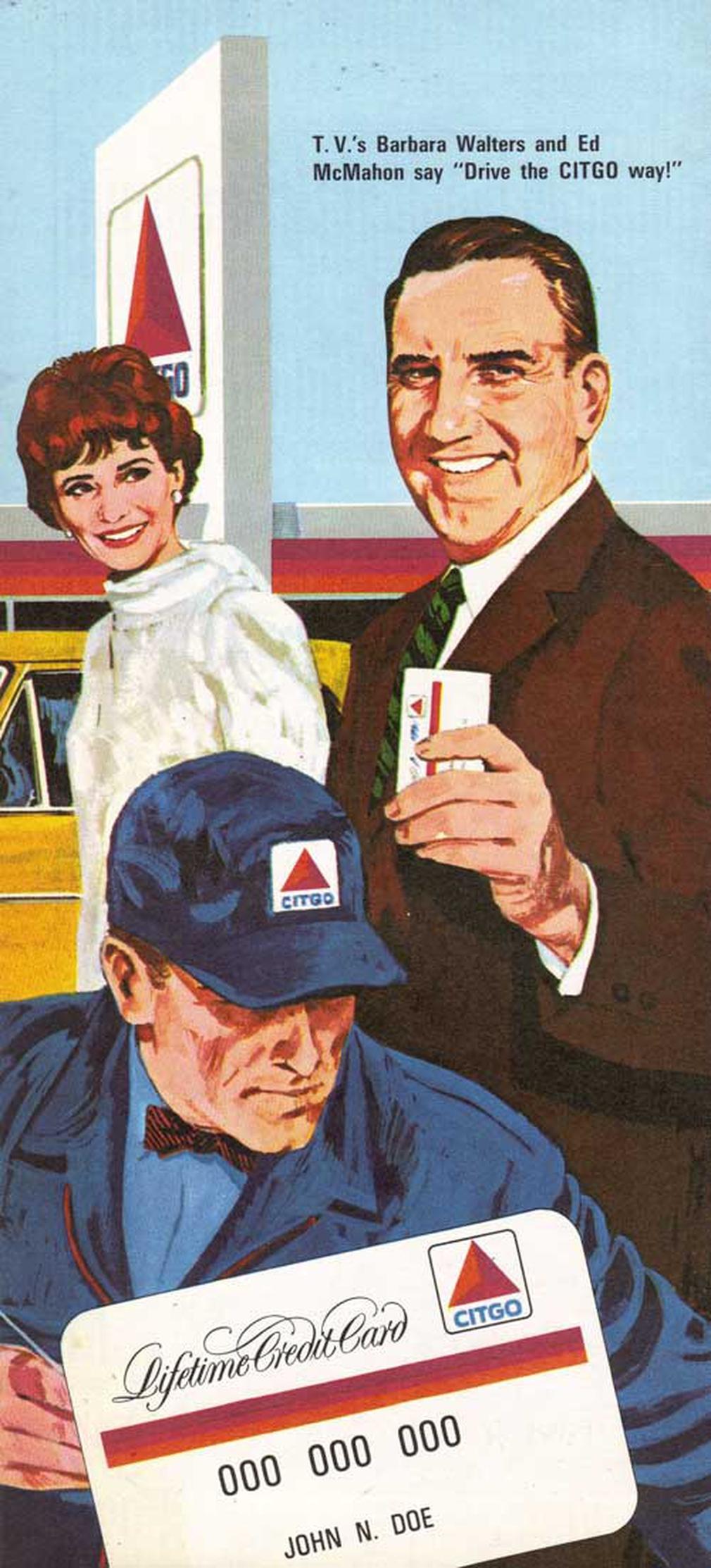 Citgo Gasoline vintage credit card ad 1966