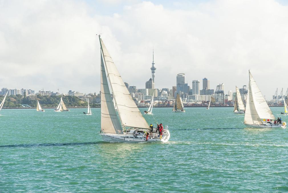 Auckland Harbour skyline.