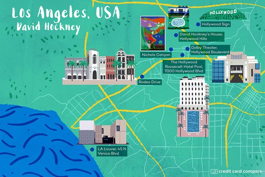 Los Angeles, USA (David Hockney)