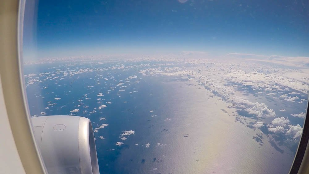 Tasman Sea from flight AA72