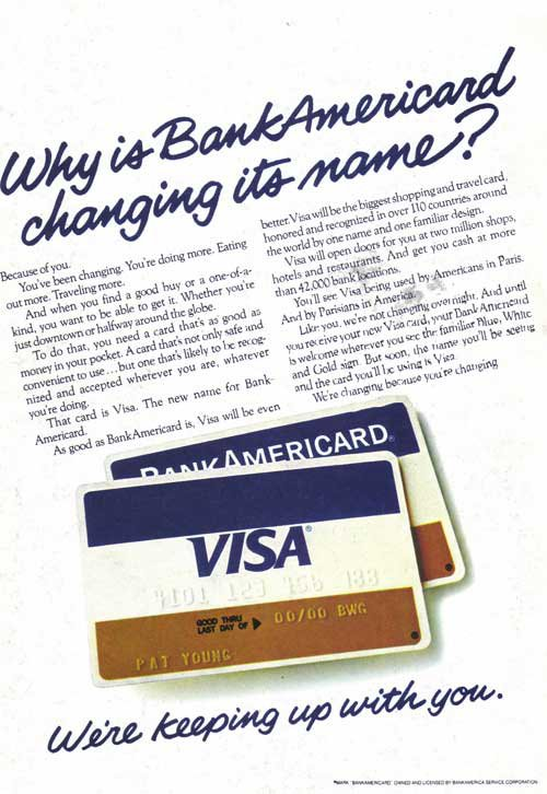 BankAmericard vintage credit card ad 1977
