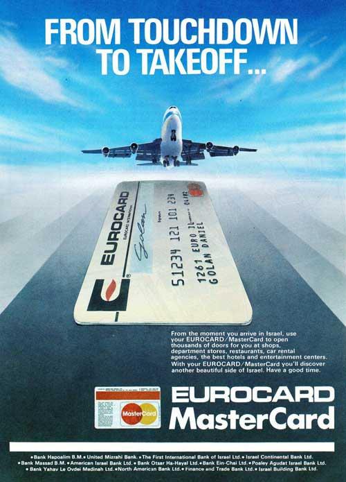 Eurocard Mastercard vintage credit card ad 1980