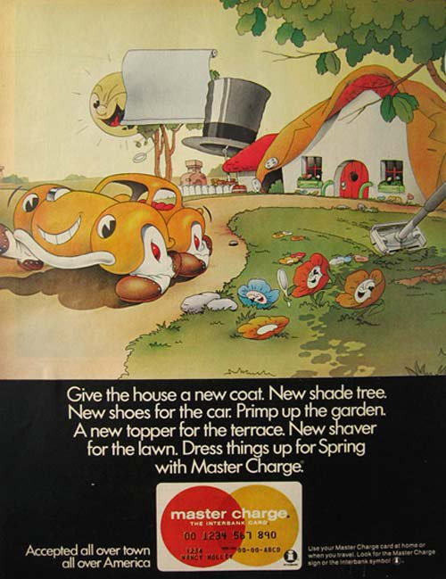 Master Charge vintage ad 1970
