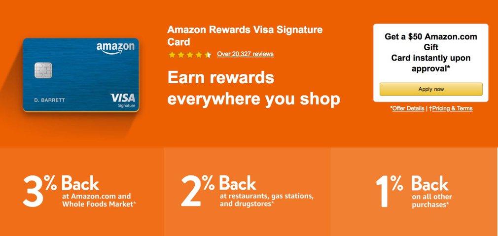Amazon Prime Rewards Visa Signature card for US customers
