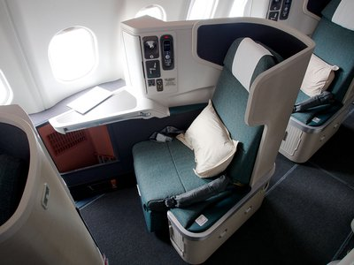 Cathay Pacific long haul business class seat