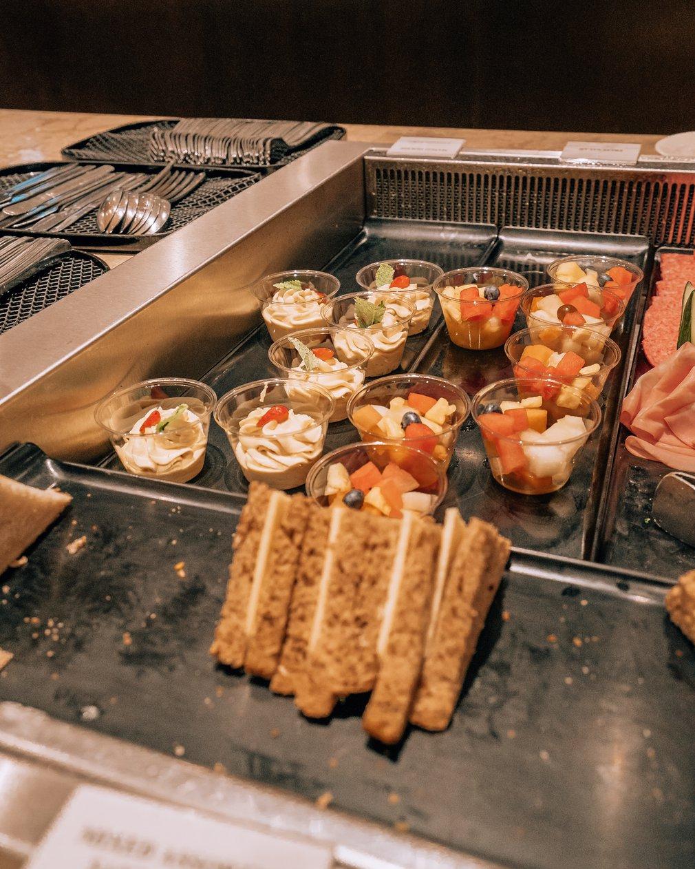 Norwegian breakfast served