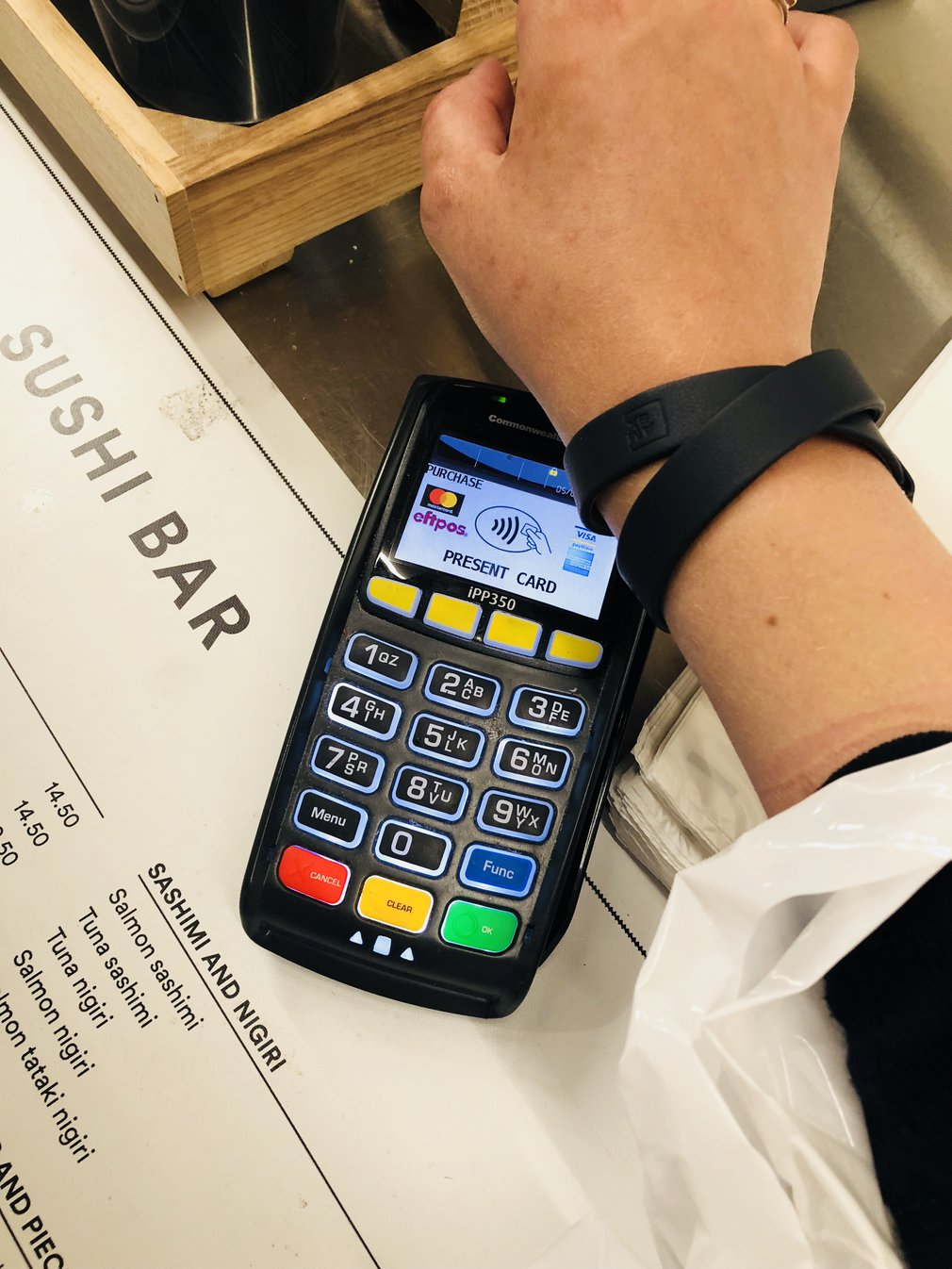 Amex payment band in use in Australia